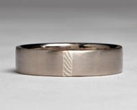 mokume gane wedding ring - for sale