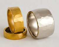 MAKE YOUR OWN hammered wedding rings
