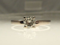 white moissanite diamond alternative engagement ring