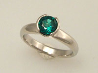 cultured emerald diamond alternative engagement ring
