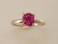 pink sapphire diamond alternative engagement ring