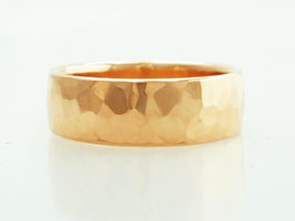 hammered 22k wedding ring