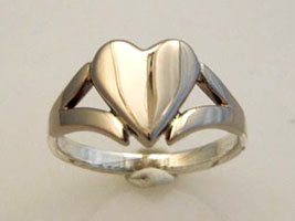 semi-claddagh ring