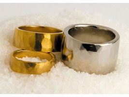 Gold bullion wedding rings