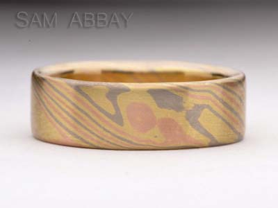 mokume ring woodgrain