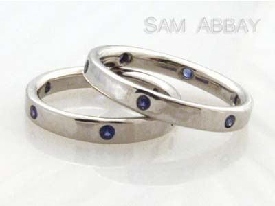 Wedding Rings  Sapphires on Sapphire Wedding Rings