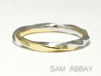 Twisted Platinum and Gold Wedding Ring
