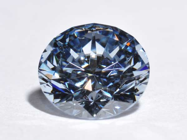 1.04ct blue cultured diamond