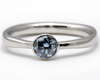cultured blue diamond engagement ring