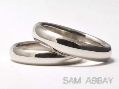 White Gold Simple Bands