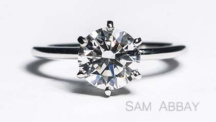 Six-Prong Platinum Engagement Ring
