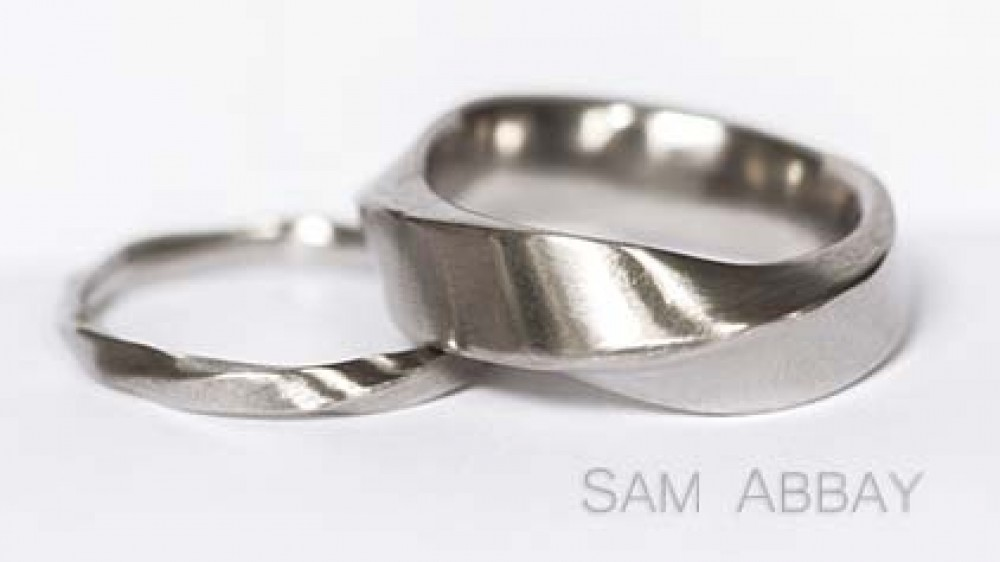 finish brushed palladium context wedding ring in p gents rings
