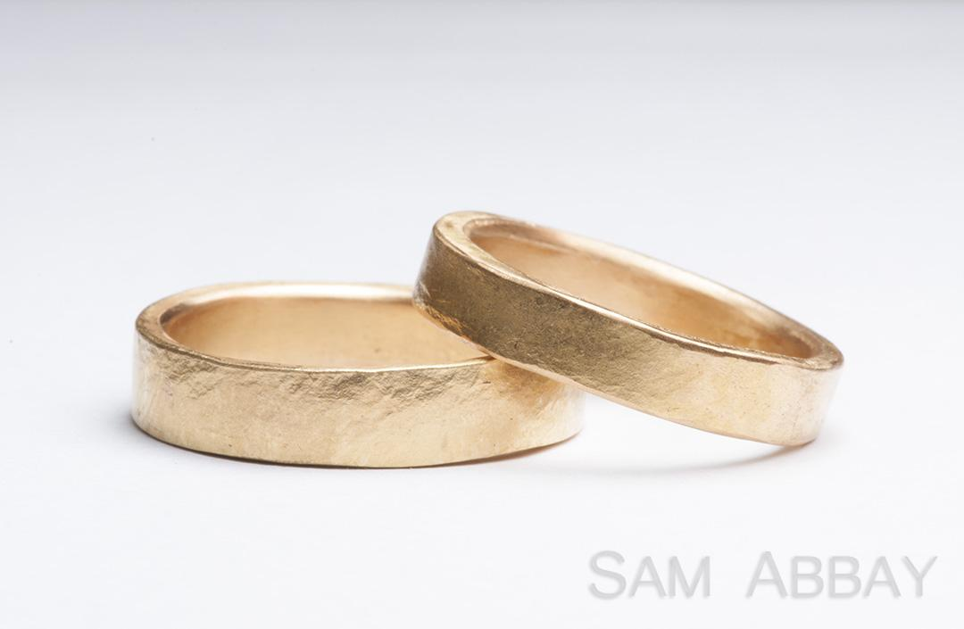 hammered bands new york wedding ring - Rustic Wedding Rings