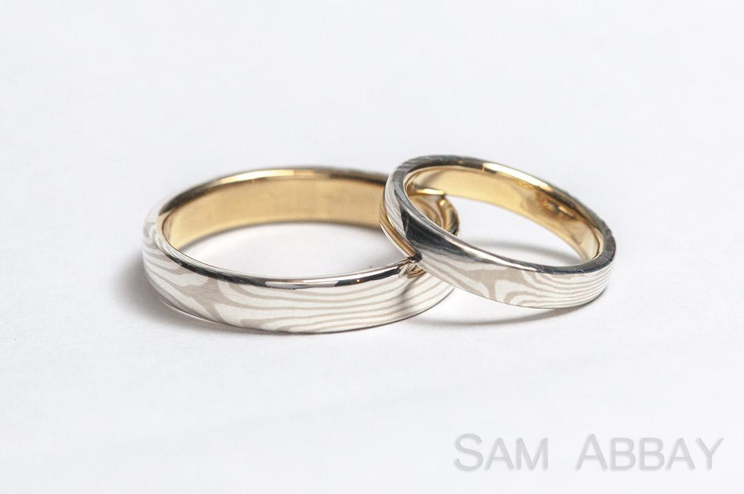 that wedding mokume palladium pin is band etched rings enagement wide