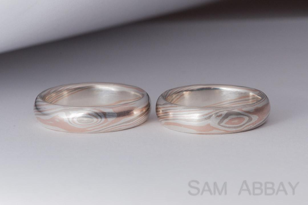 wedding engagement set gane ring rings how made mokume what matched is
