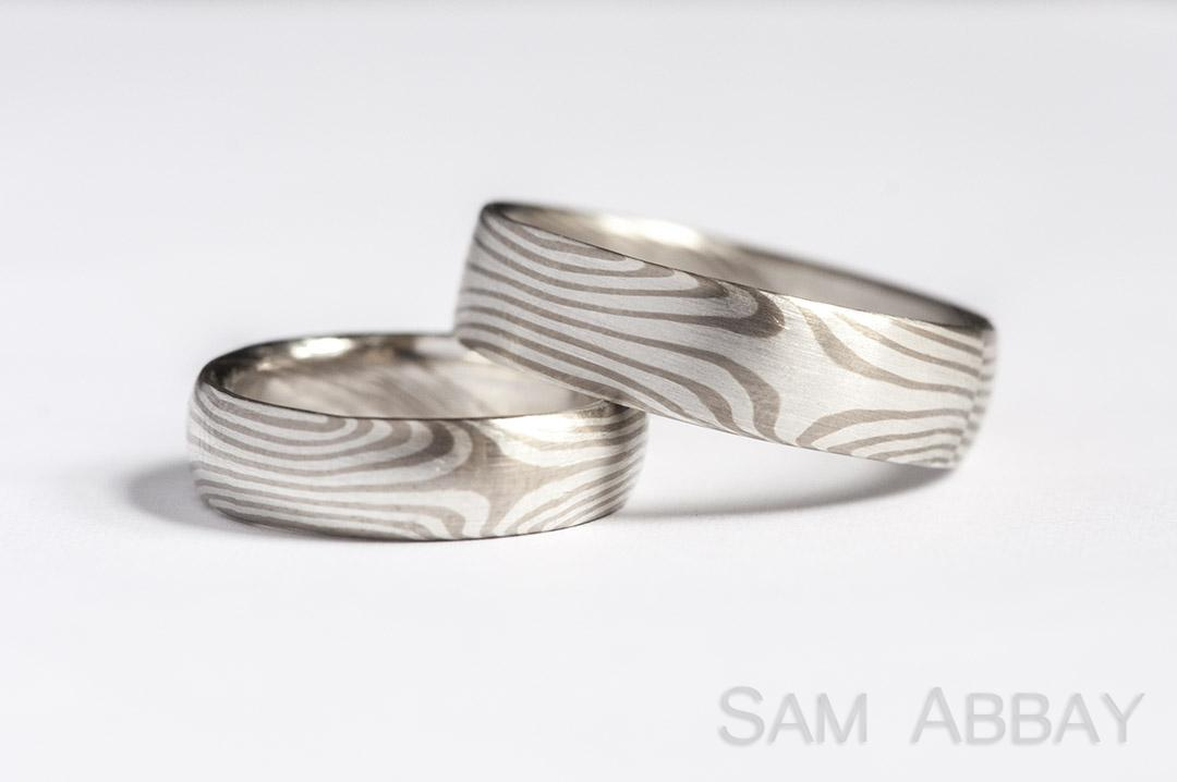 ring band stack petite rings gane store wedding mokume
