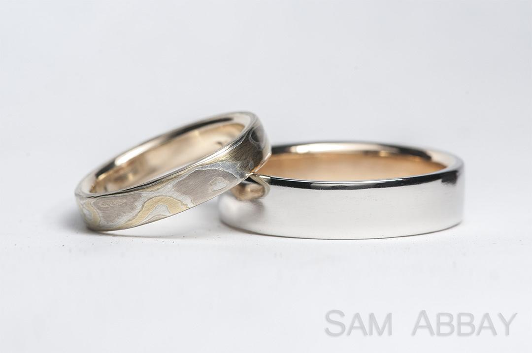 these customers brought in jewelry that belonged to her grandparents to incorporate into their new wedding bands these heirlooms can often be incorporated - Platinum Wedding Rings