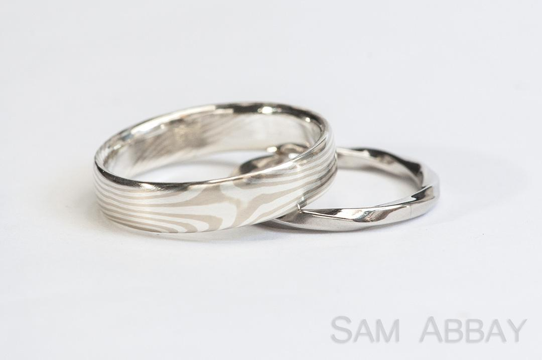 nickel hobomokume shop silver rings hobo ring mokume gane piston
