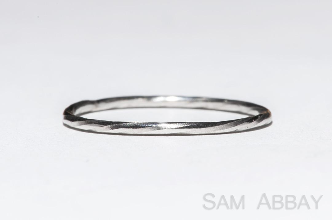platinum twisted wedding ring this thin twisted platinum ring has been through a drawplate to smooth the edges of the ring into an almost round shape while - Wedding Rings Platinum