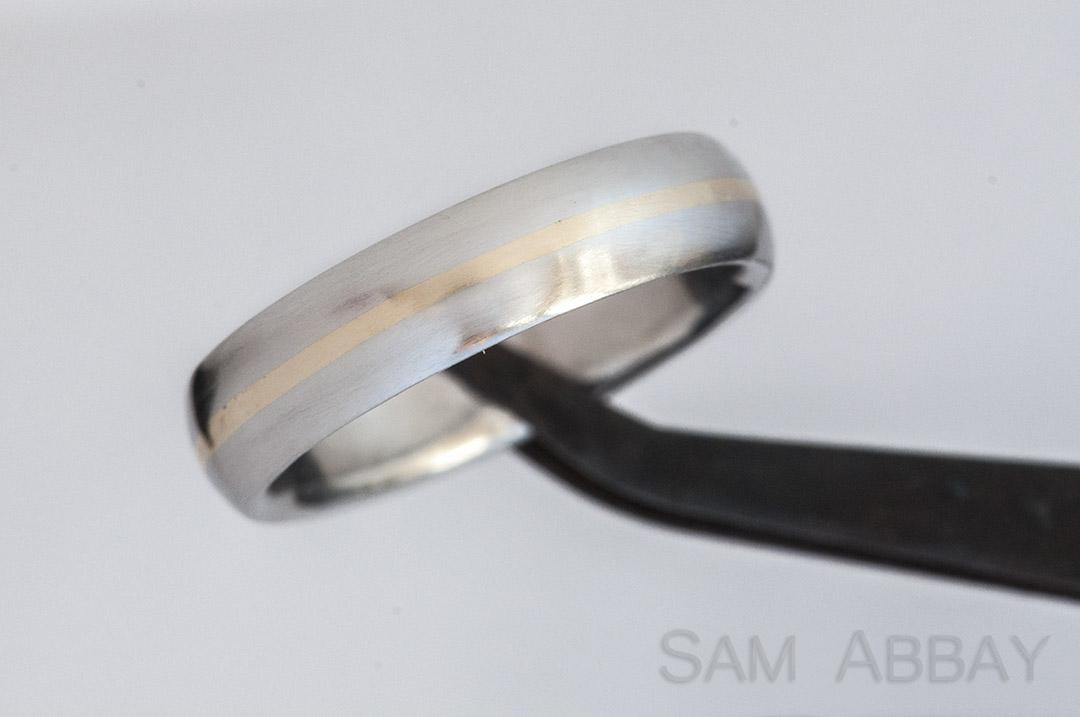 horizontal stripe inlay wedding ring these stripes are more time consuming than shorter vertical stripes but are less work than joining multiple pieces of - Used Wedding Rings For Sale