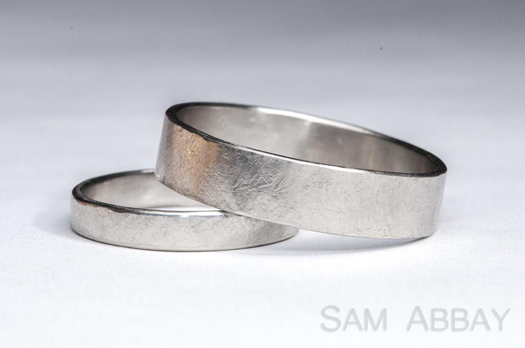 hammered bands - Rustic Wedding Rings