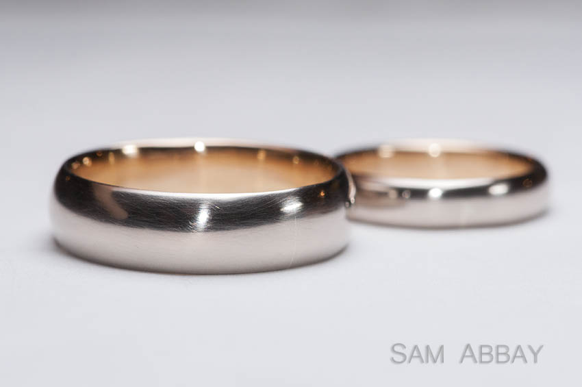 wedding rings from family gold this couple brought a krugerrand bullion coin that his grandfather gave him years ago we alloyed half into white gold and - Same Sex Wedding Rings