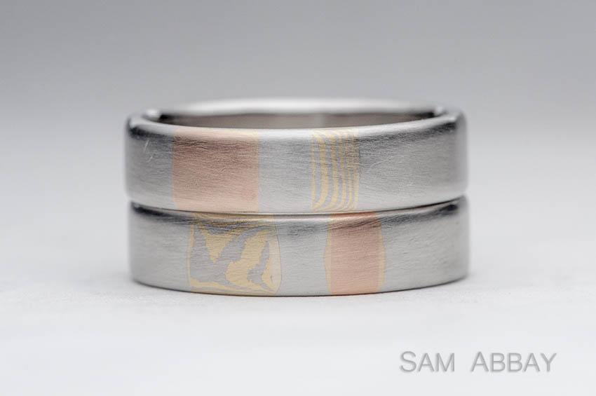 Mokume Inlay in Platinum